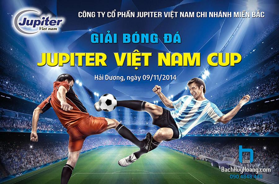Thiết Kế Backdrop - Phông Sân Khấu - Jupiter Việt Nam Cup