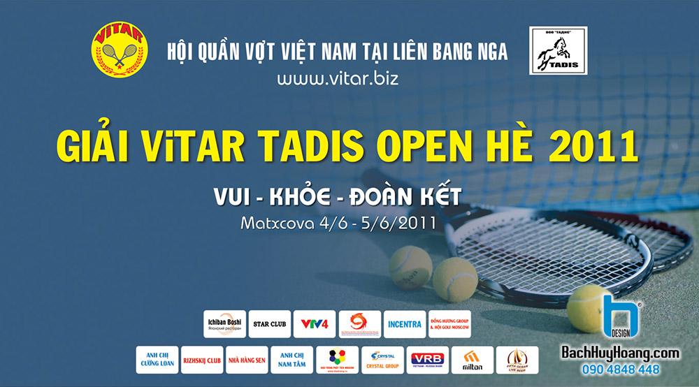 Thiết Kế Backdrop - Phông Sân Khấu - Giải Vitar Tadis Open Hè 2011