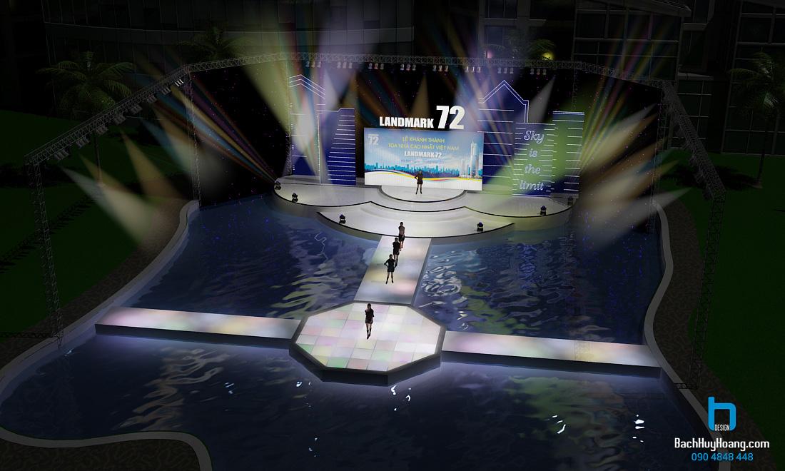 Thiết Kế Sân Khấu Sự Kiện - Lễ Khánh Thành Landmark 72