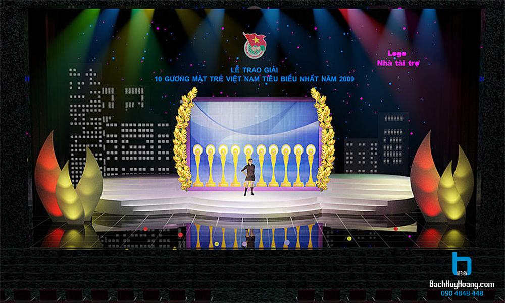 Thiết Kế Sân Khấu Sự Kiện - Lễ trao giải 10 gương mặt trẻ tiêu biểu Việt Nam 2009