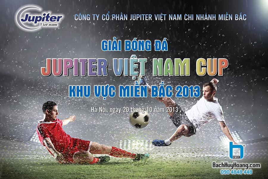 Thiết Kế Backdrop - Phông Sân Khấu - Giải Bóng Đá Jupiter Việt Nam