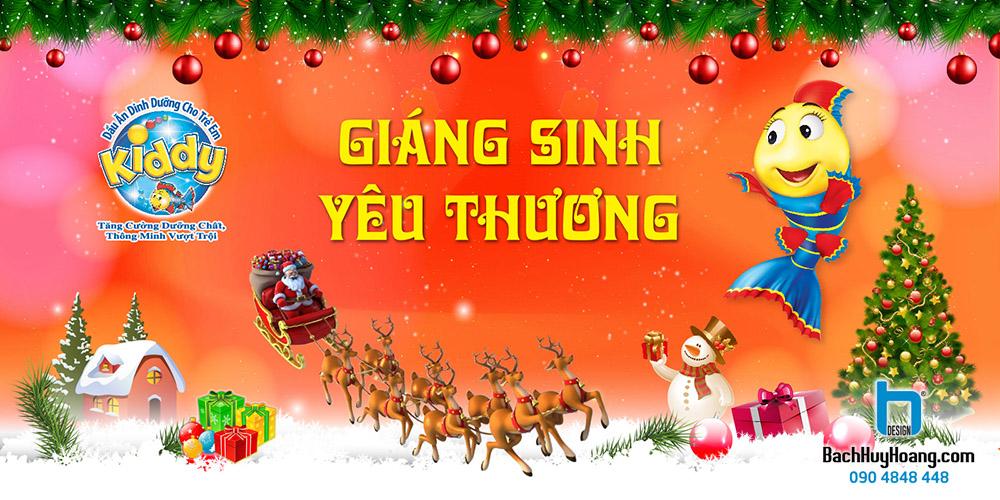 Thiết Kế Backdrop - Phông Sân Khấu - Kiddy Giáng Sinh Yêu Thương
