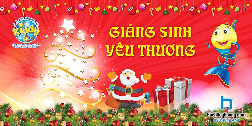 Thiết Kế Backdrop - Phông Sân Khấu - Giáng Sinh Yêu Thương Kiddy