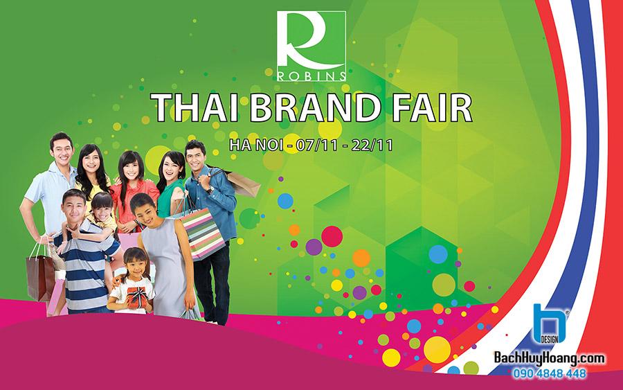Thiết Kế Backdrop - Phông Sân Khấu - Thai Brand Fair