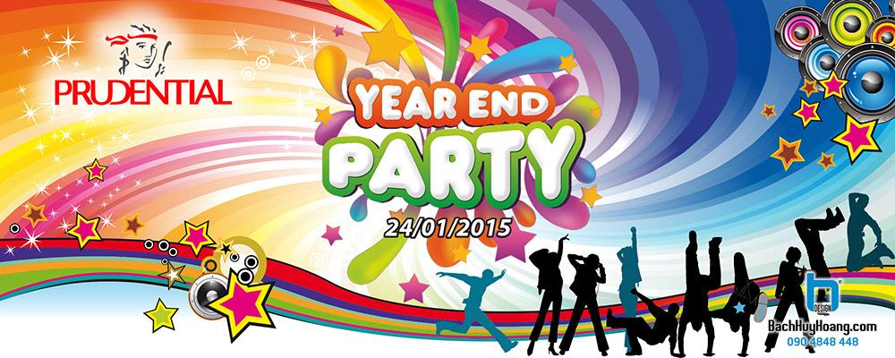 Thiết Kế Backdrop - Phông Sân Khấu - Prudential Year End Party