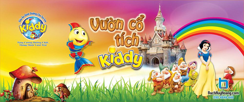 Thiết Kế Backdrop - Phông Sân Khấu - Kiddy Vườn Cổ Tích