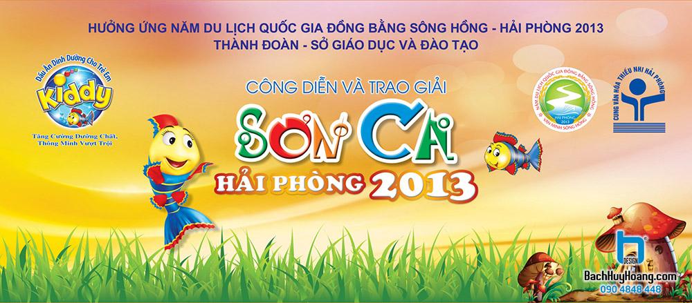 Thiết Kế Backdrop - Phông Sân Khấu - Sơn Ca Hải Phòng 2013