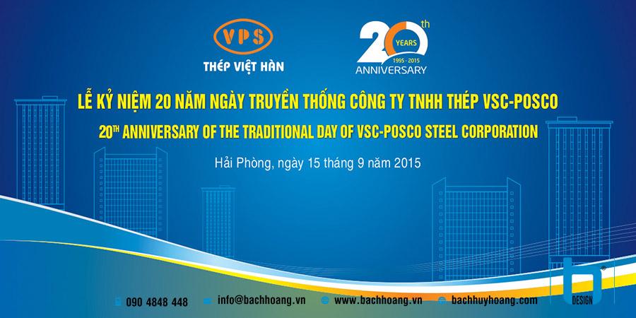 Lễ Kỷ Niệm 20 Thành Lập Công Ty TNHH Thép VSC-POSCO