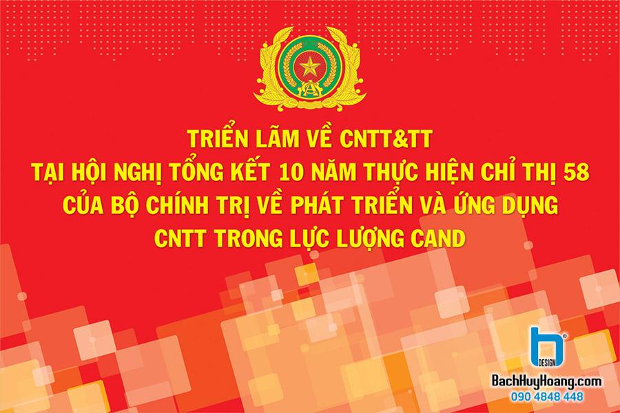 Thiết Kế Backdrop - Phông Sân Khấu - Triển Lãm CNTT&TT Bộ Công An