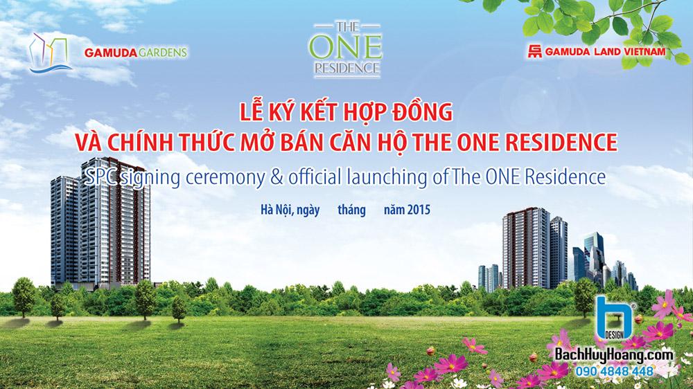 Thiết Kế Backdrop - Phông Sân Khấu - The One Residence