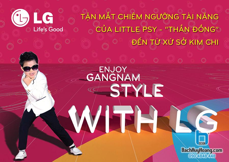Thiết Kế Backdrop - Phông Sân Khấu - Enjoy Gangnam Style With LG