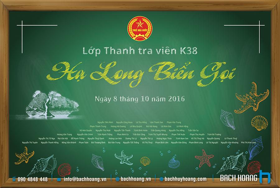 Thiết Kế Backdrop, Phông Sân Khấu - Backdrop họp lớp Thanh tra vien K38