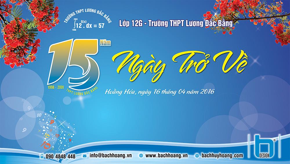 Thiết Kế Backdrop, Phông Sân Khấu - Backdrop họp lớp 12G Trường THPT Lương Đắc Bằng