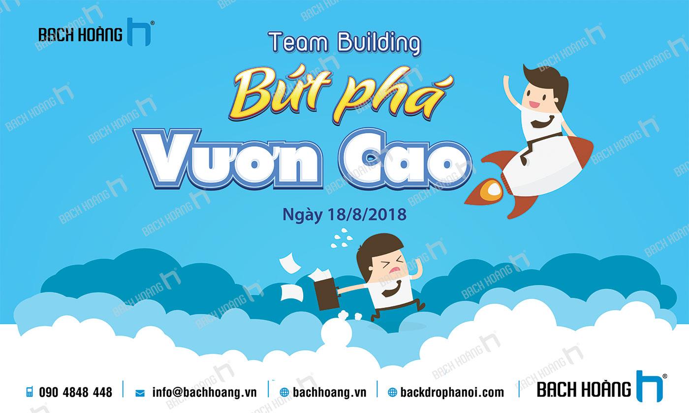 Thiết Kế Backdrop - Phông Gala Dinner - Team Building mẫu 01
