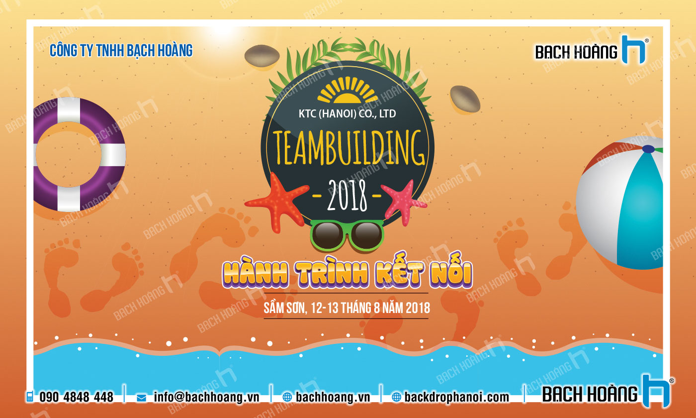 Thiết Kế Backdrop - Phông Gala Dinner - Team Building mẫu 18