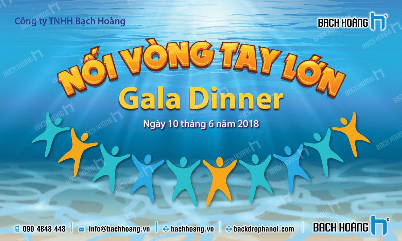 Thiết Kế Backdrop - Phông Gala Dinner - Team Building mẫu 22