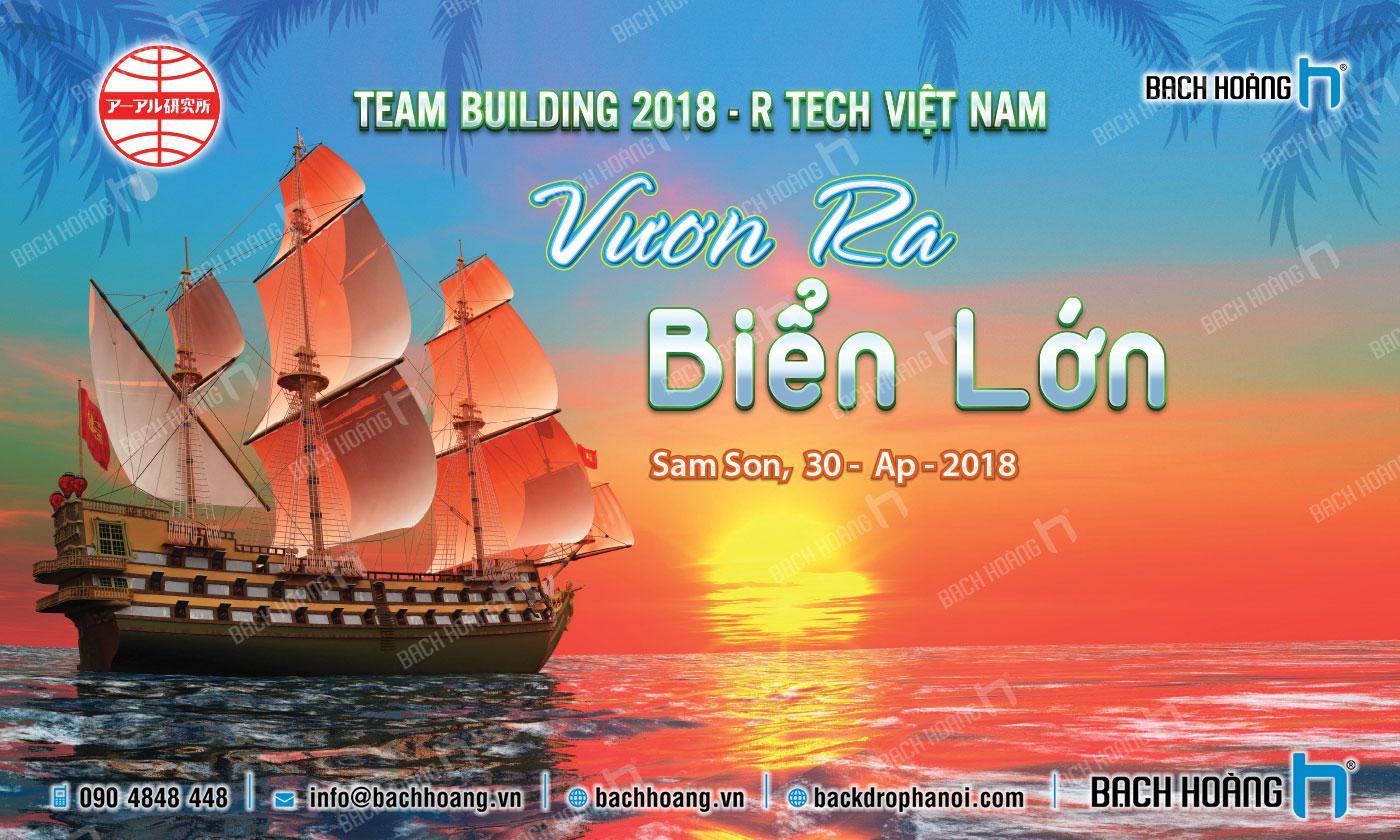 Thiết Kế Backdrop - Phông Gala Dinner - Team Building mẫu 25