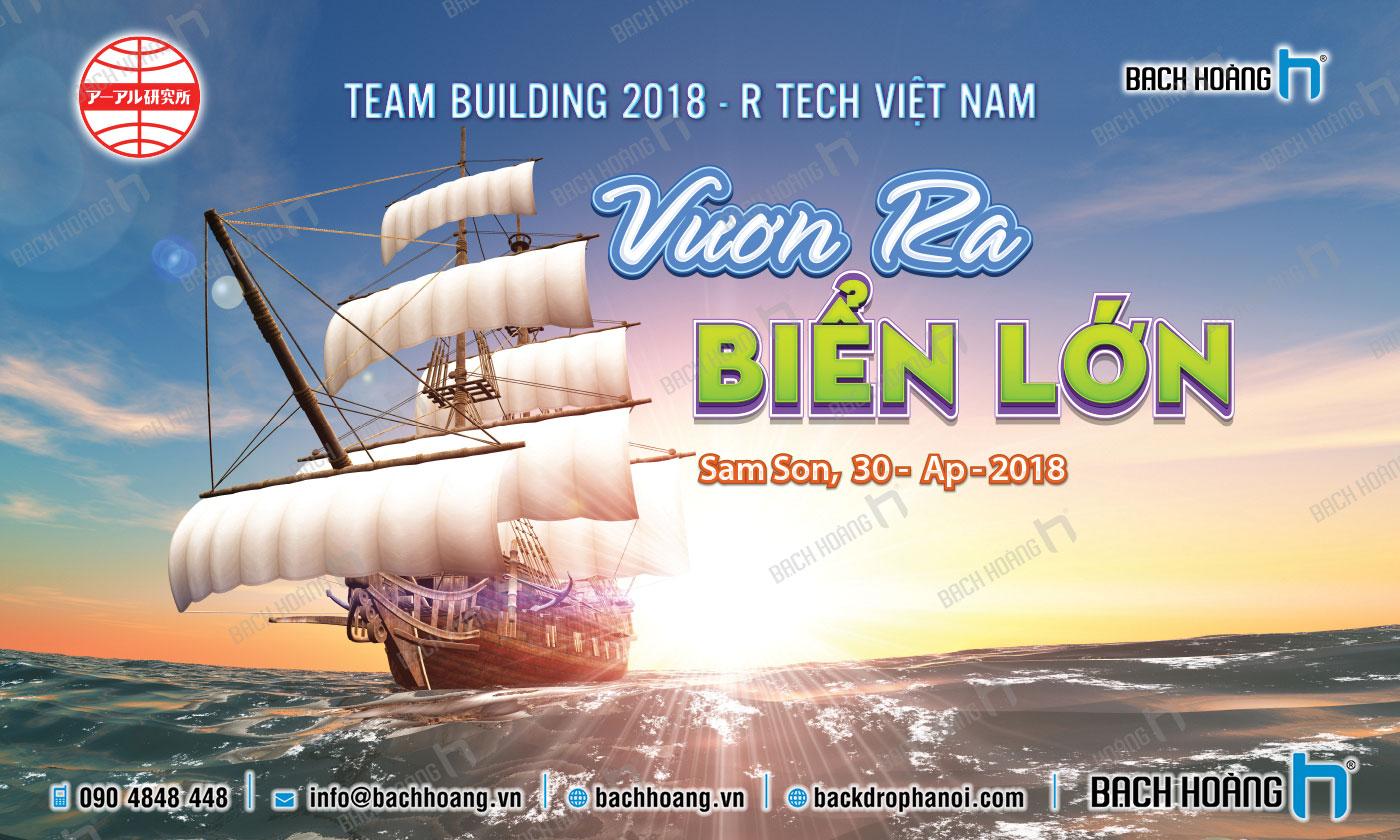 Thiết Kế Backdrop - Phông Gala Dinner - Team Building mẫu 26