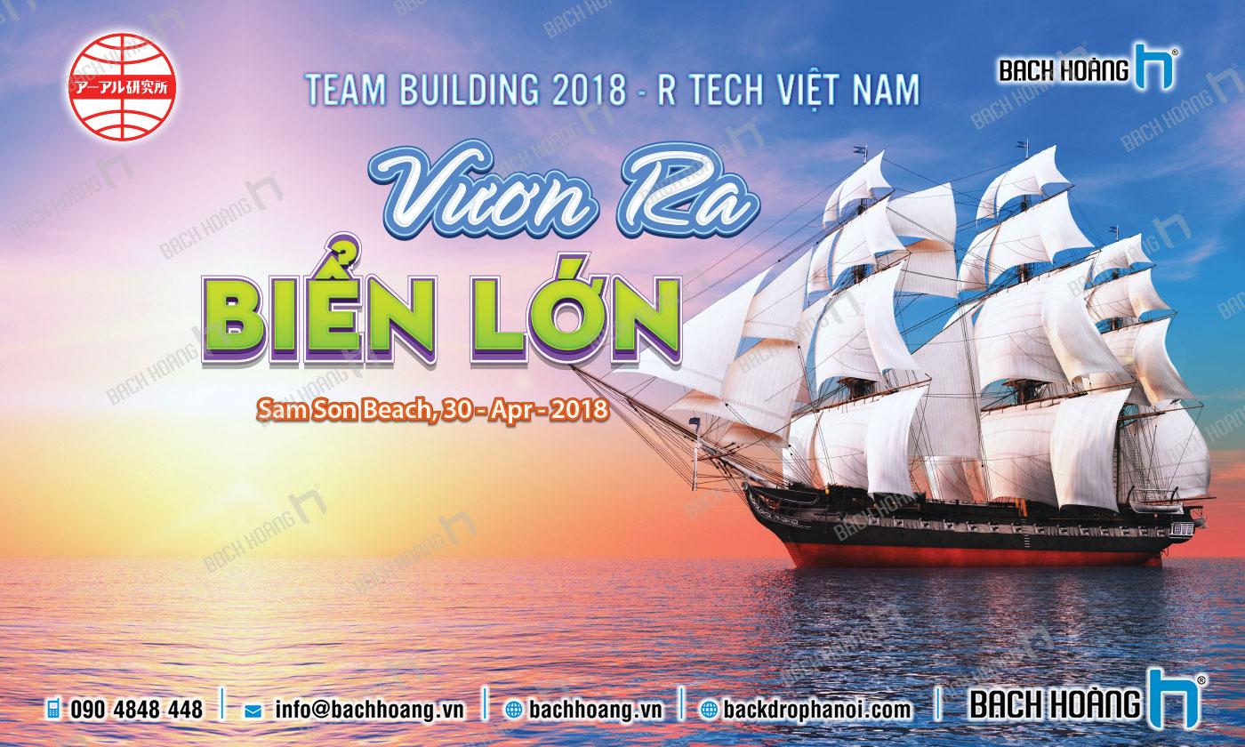 Thiết Kế Backdrop - Phông Gala Dinner - Team Building mẫu 27