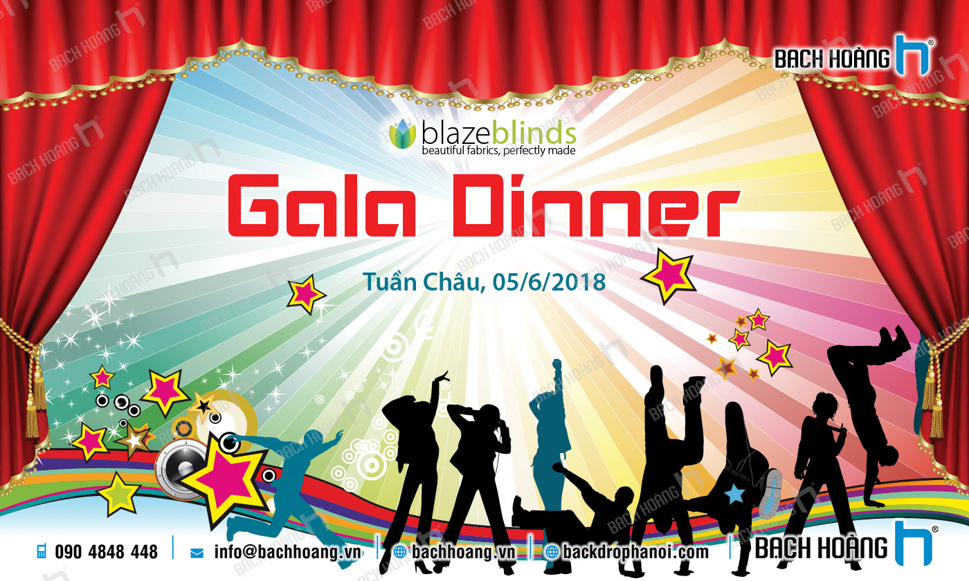 Thiết Kế Backdrop - Phông Gala Dinner - Team Building mẫu 33