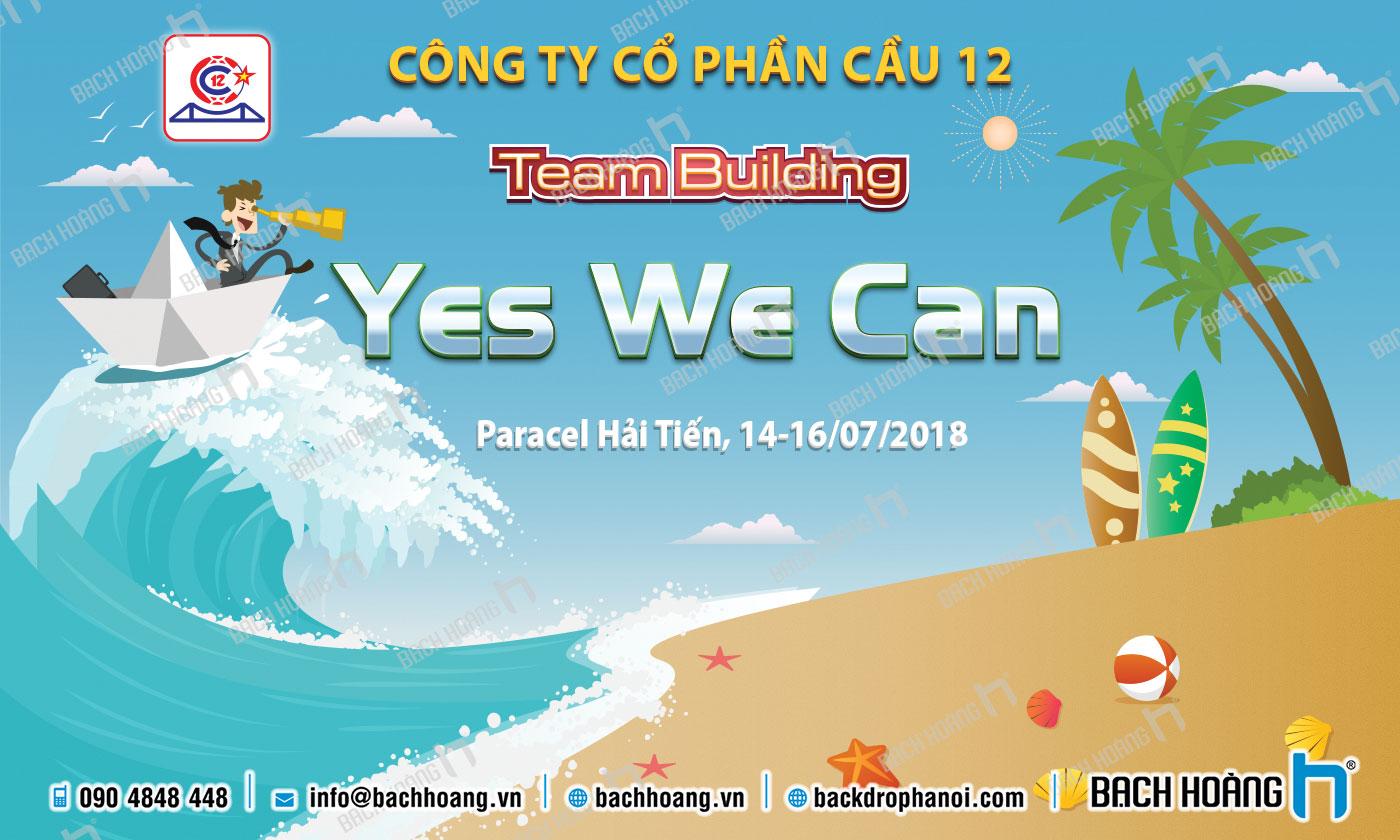 Thiết Kế Backdrop - Phông Gala Dinner - Team Building mẫu 36