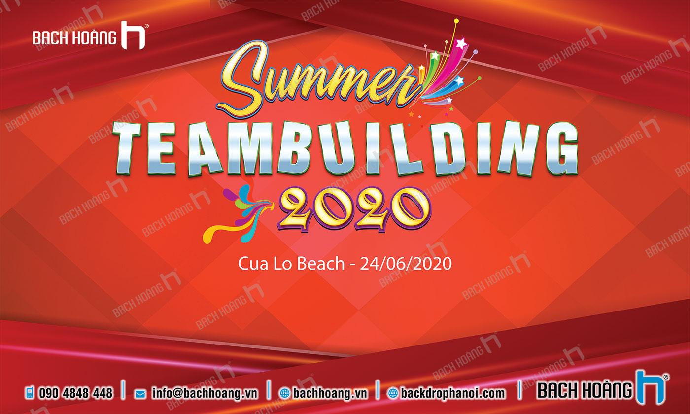 Thiết Kế Backdrop - Phông Gala Dinner - Team Building mẫu 40