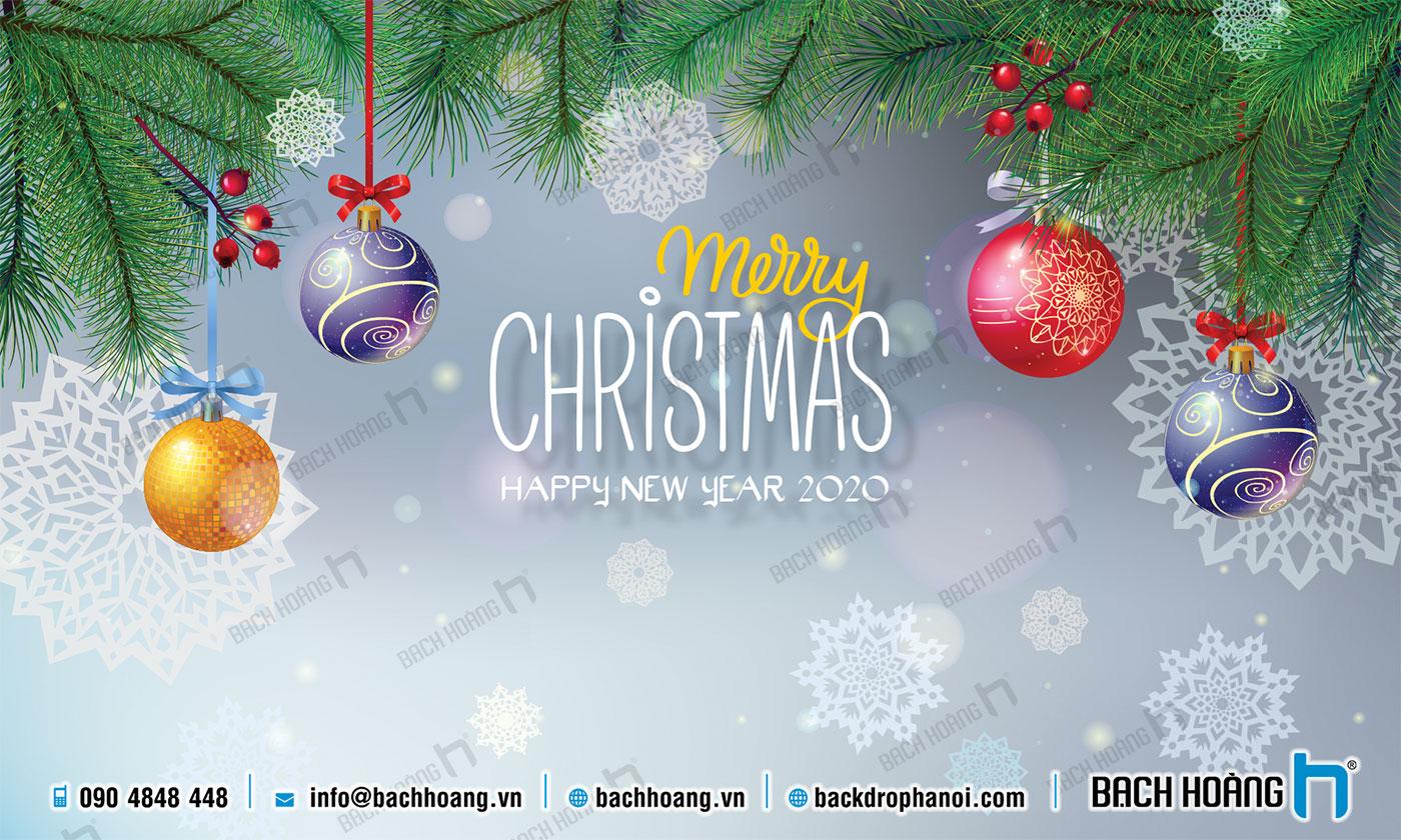Thiết Kế Backdrop - Phông Noel Giáng Sinh Merry Christmas 100