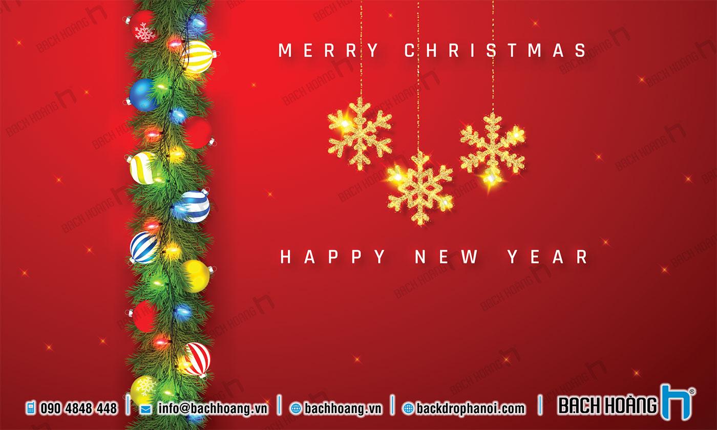 Thiết Kế Backdrop - Phông Noel Giáng Sinh Merry Christmas 101