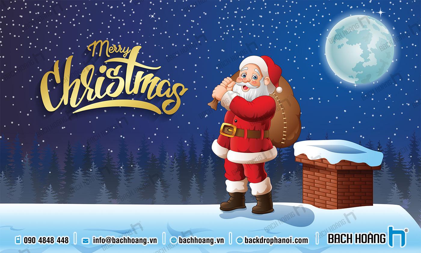 Thiết Kế Backdrop - Phông Noel Giáng Sinh Merry Christmas 102