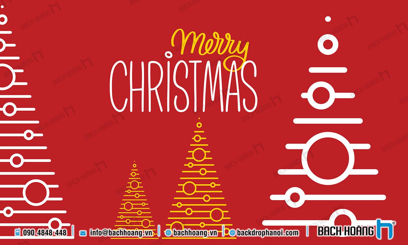 Thiết Kế Backdrop - Phông Noel Giáng Sinh Merry Christmas 103