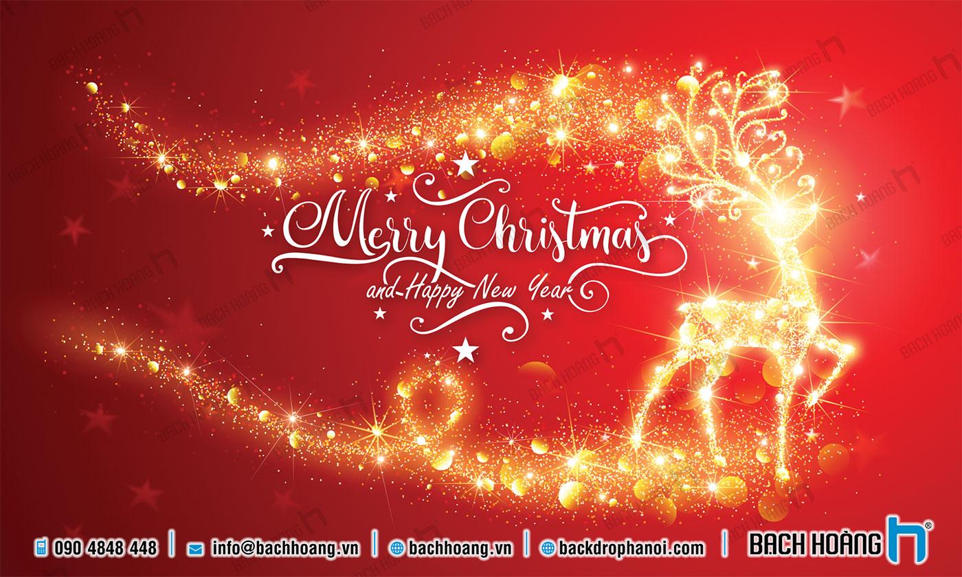 Thiết Kế Backdrop - Phông Noel Giáng Sinh Merry Christmas 104