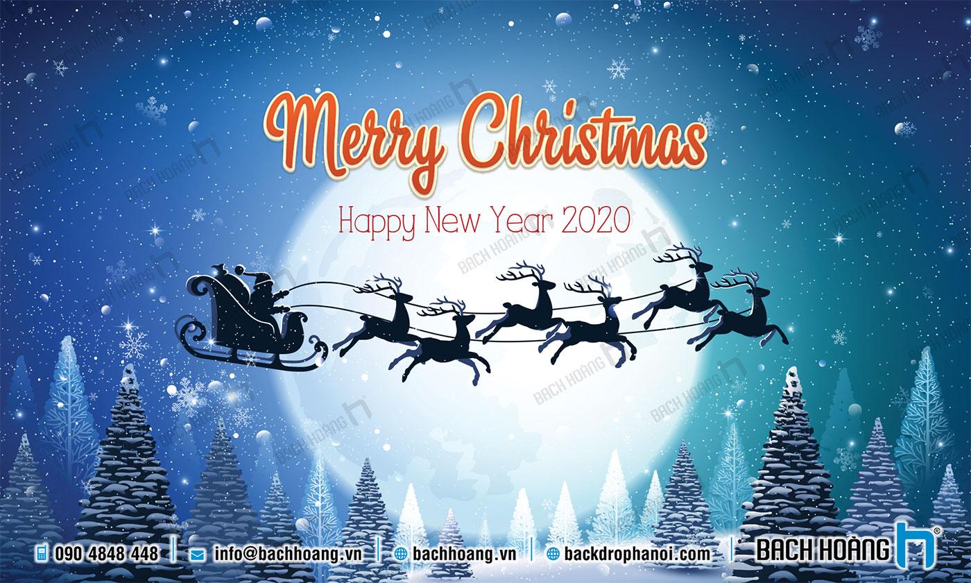 Thiết Kế Backdrop - Phông Noel Giáng Sinh Merry Christmas 105