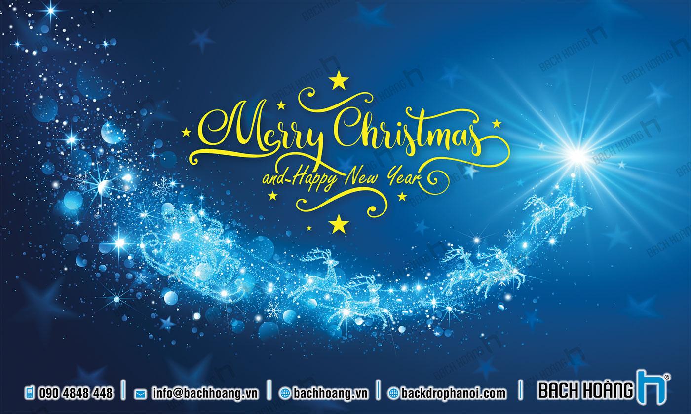 Thiết Kế Backdrop - Phông Noel Giáng Sinh Merry Christmas 106