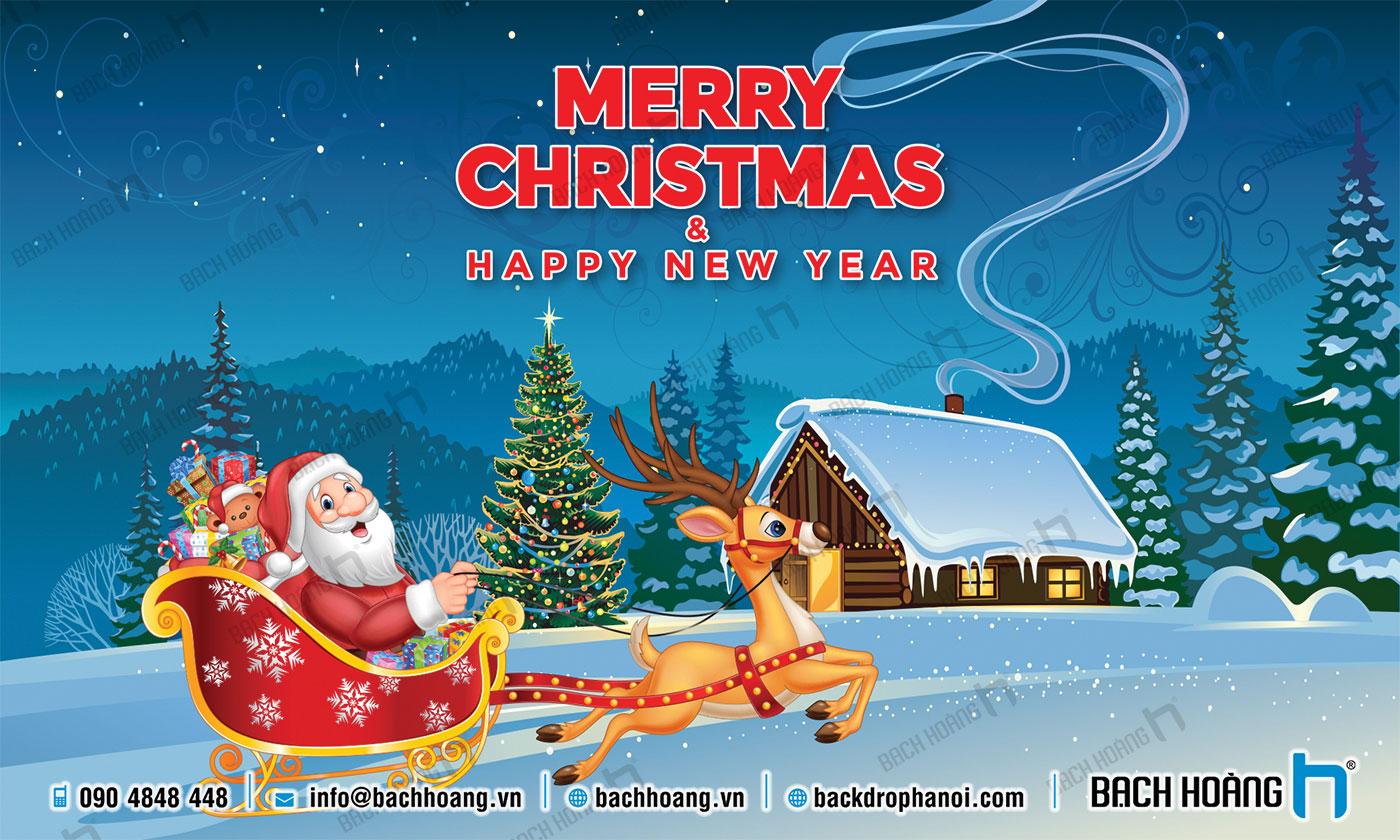 Thiết Kế Backdrop - Phông Noel Giáng Sinh Merry Christmas 107
