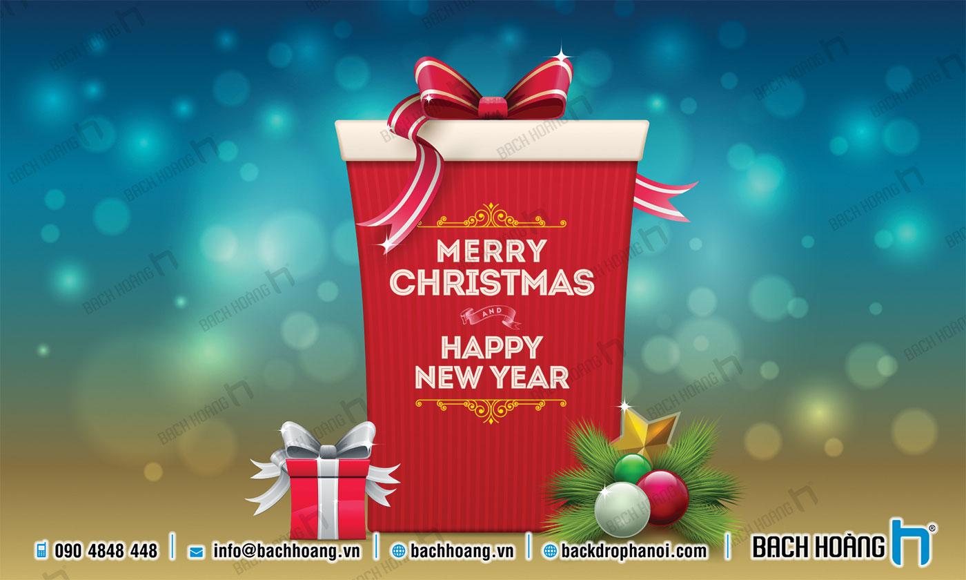 Thiết Kế Backdrop - Phông Noel Giáng Sinh Merry Christmas 108