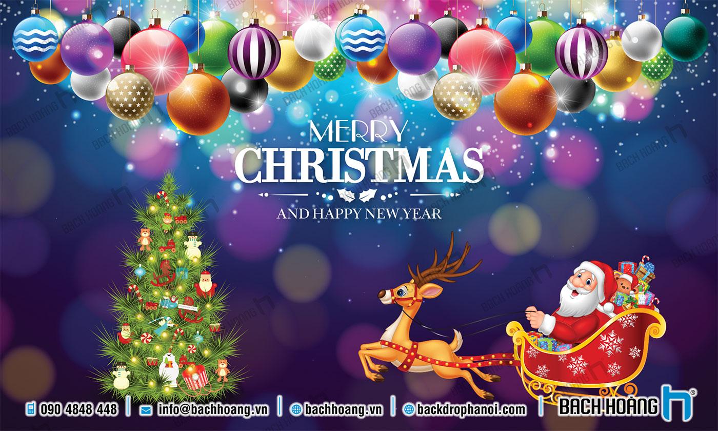 Thiết Kế Backdrop - Phông Noel Giáng Sinh Merry Christmas 109