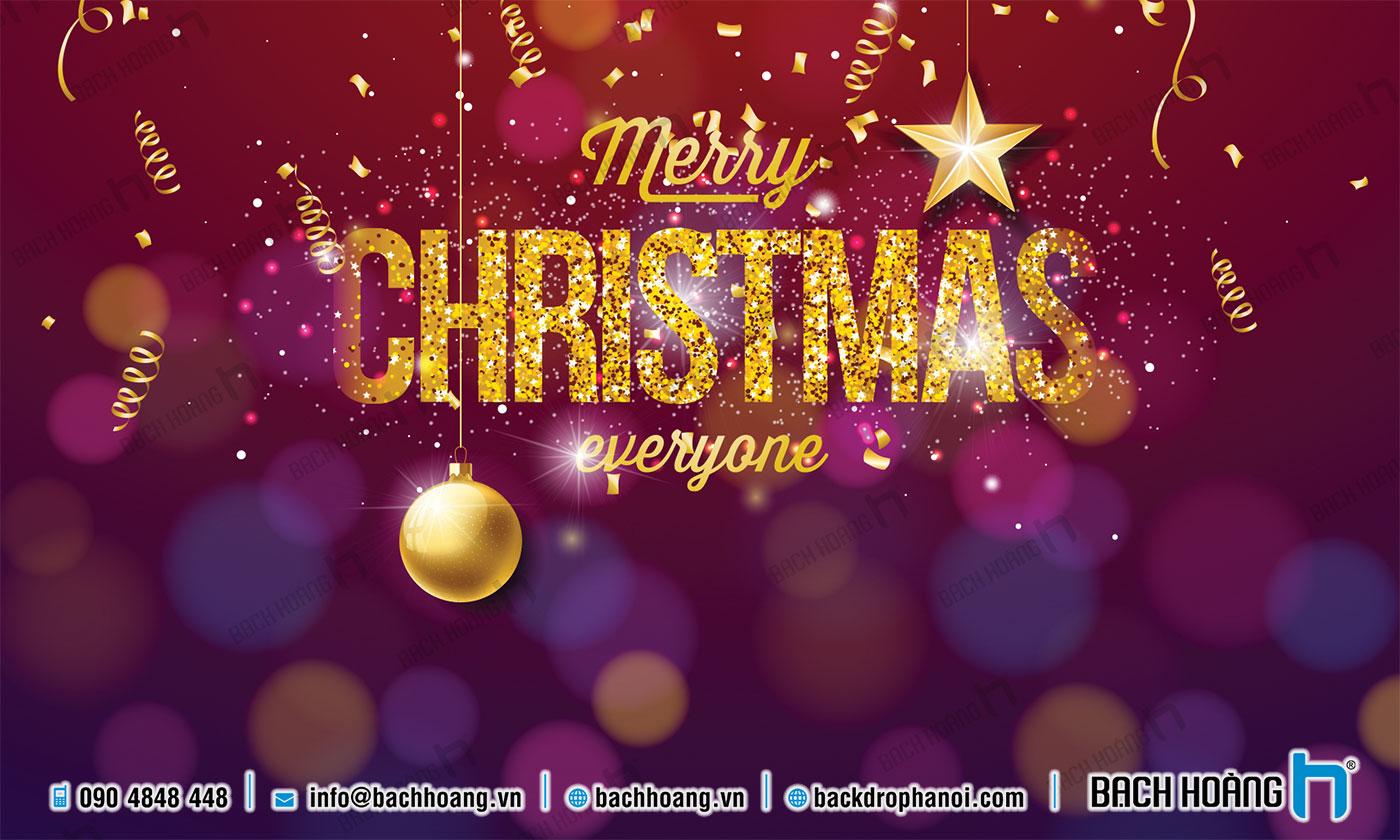 Thiết Kế Backdrop - Phông Noel Giáng Sinh Merry Christmas 110