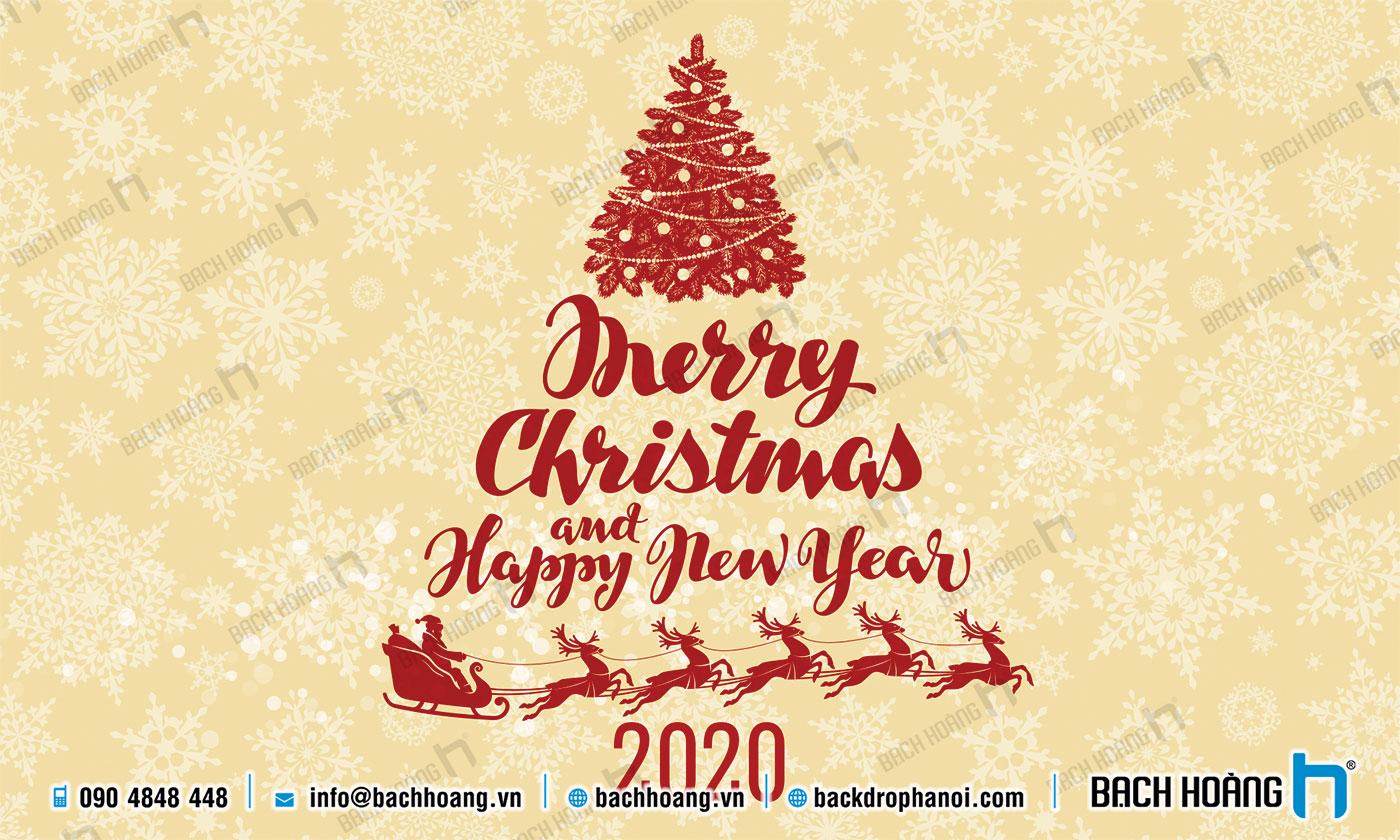 Thiết Kế Backdrop - Phông Noel Giáng Sinh Merry Christmas 112