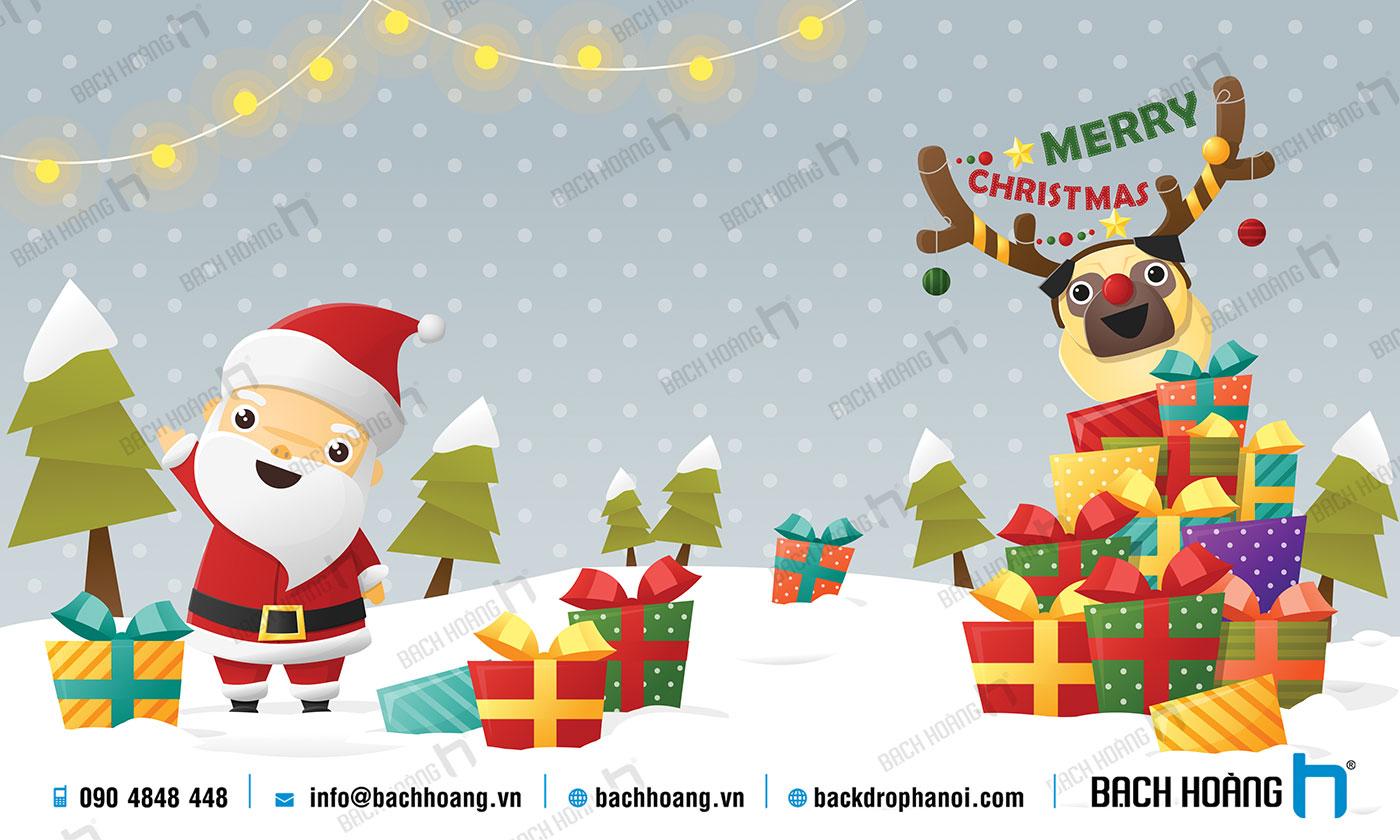 Thiết Kế Backdrop - Phông Noel Giáng Sinh Merry Christmas 113
