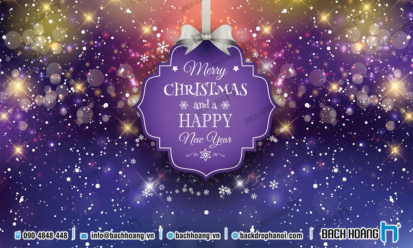 Thiết Kế Backdrop - Phông Noel Giáng Sinh Merry Christmas 114