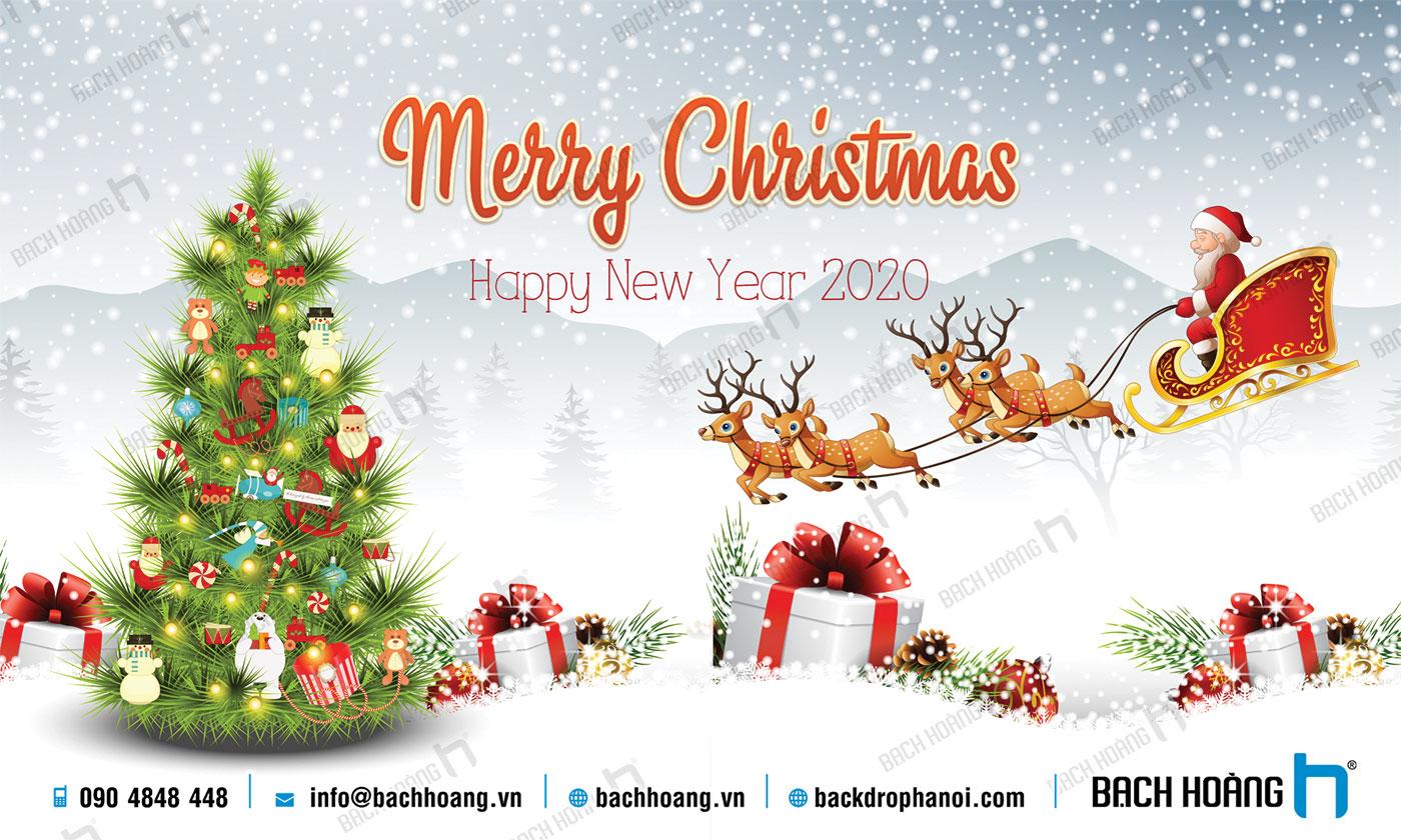 Thiết Kế Backdrop - Phông Noel Giáng Sinh Merry Christmas 115
