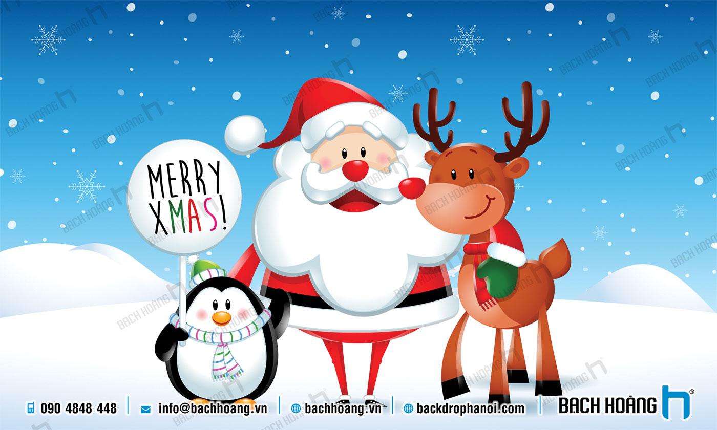 Thiết Kế Backdrop - Phông Noel Giáng Sinh Merry Christmas 116