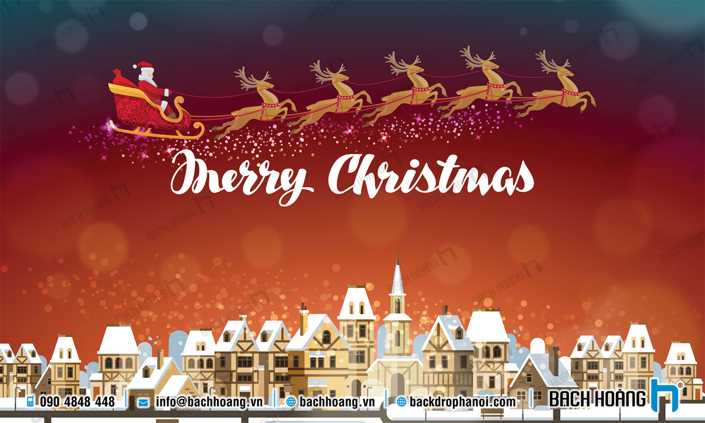 Thiết Kế Backdrop - Phông Noel Giáng Sinh Merry Christmas 117