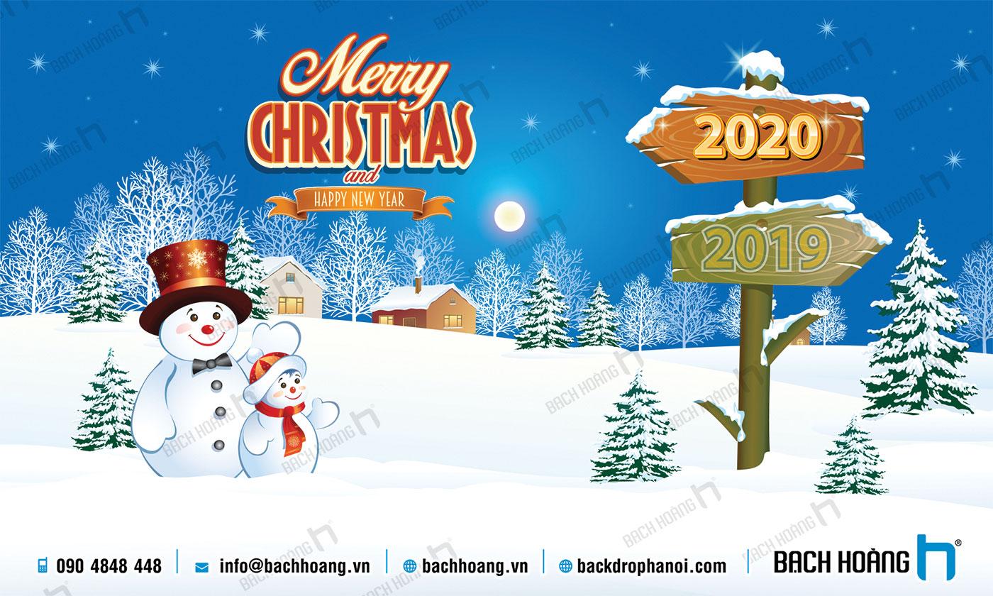 Thiết Kế Backdrop - Phông Noel Giáng Sinh Merry Christmas 119