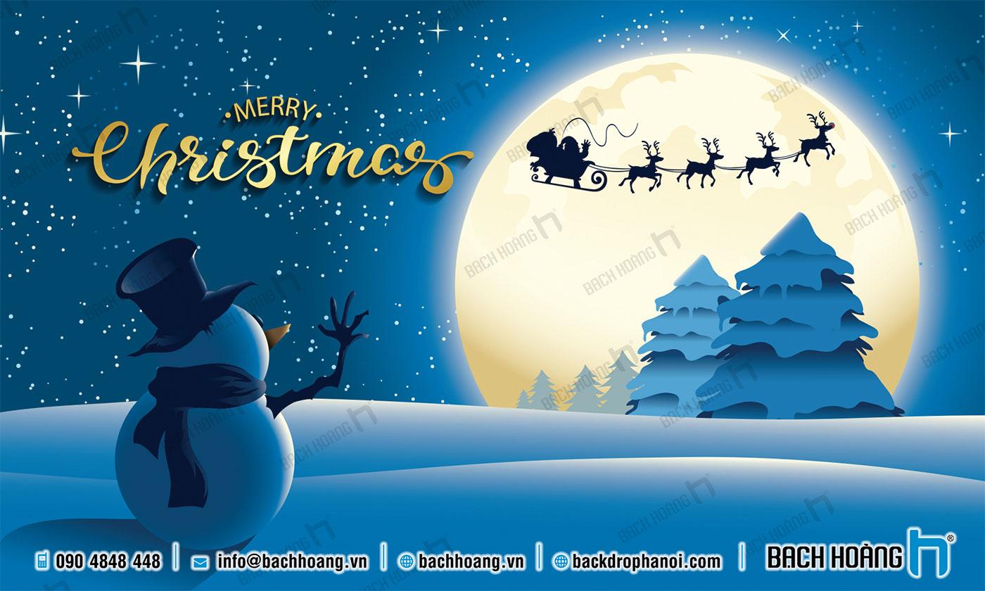 Thiết Kế Backdrop - Phông Noel Giáng Sinh Merry Christmas 120
