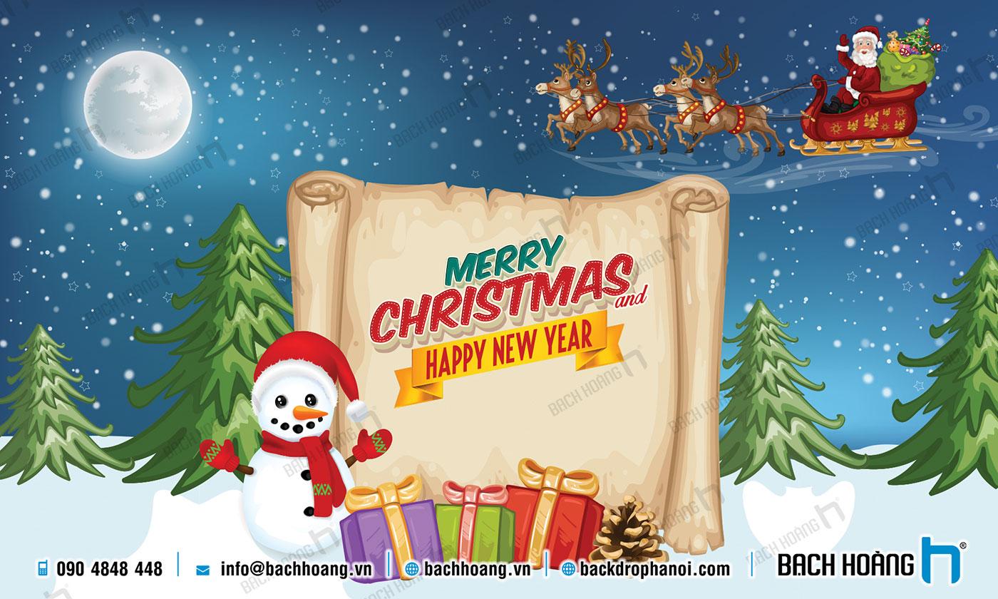 Thiết Kế Backdrop - Phông Noel Giáng Sinh Merry Christmas 121