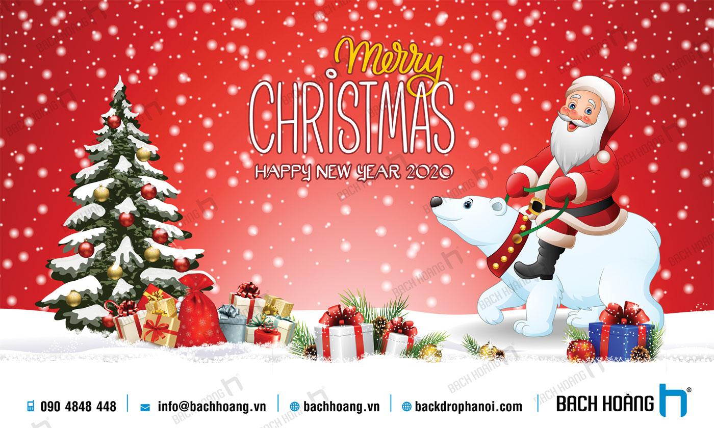 Thiết Kế Backdrop - Phông Noel Giáng Sinh Merry Christmas 122