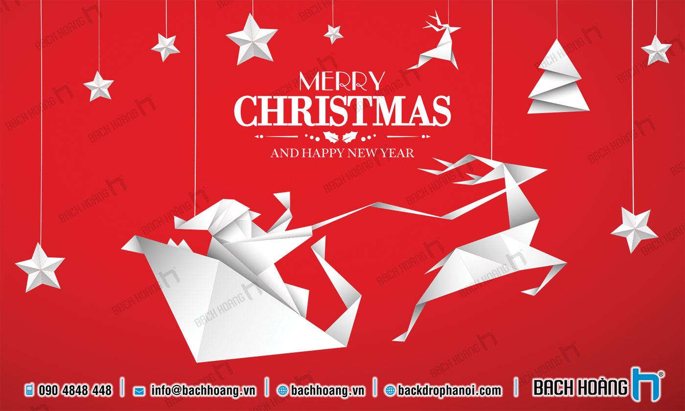 Thiết Kế Backdrop - Phông Noel Giáng Sinh Merry Christmas 123