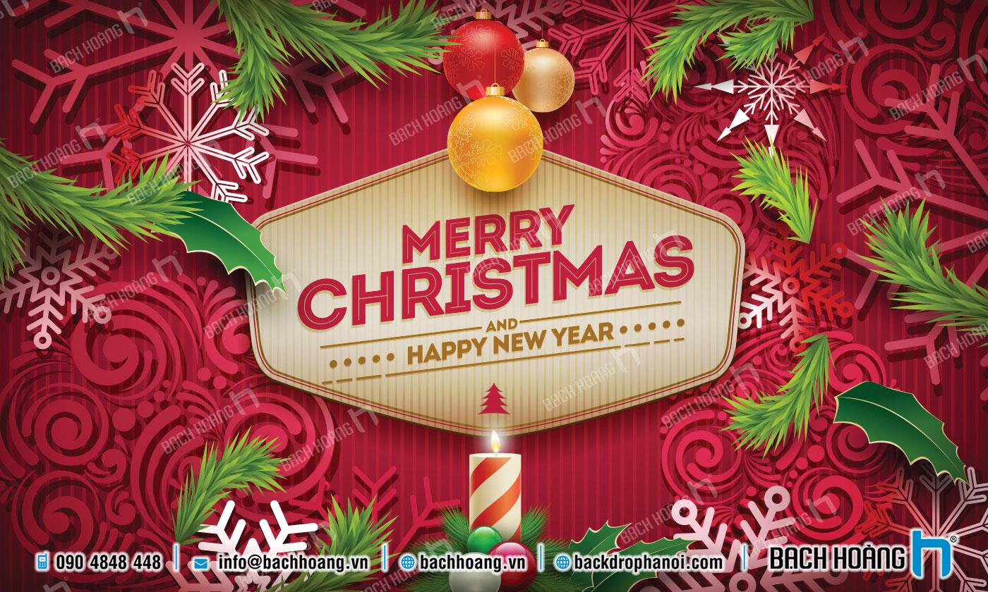 Thiết Kế Backdrop - Phông Noel Giáng Sinh Merry Christmas 81