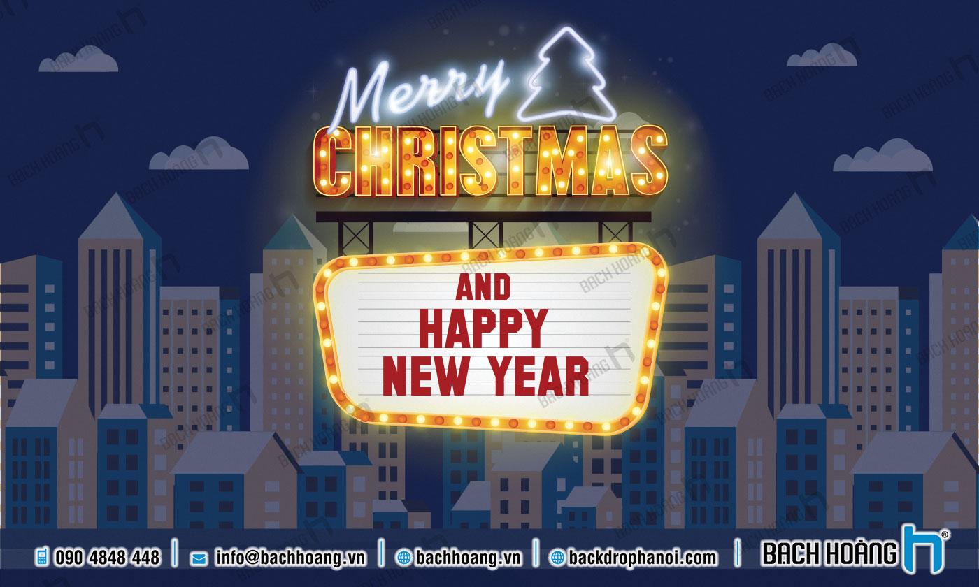 Thiết Kế Backdrop - Phông Noel Giáng Sinh Merry Christmas 82